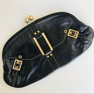 Charles David clutch with gold detail